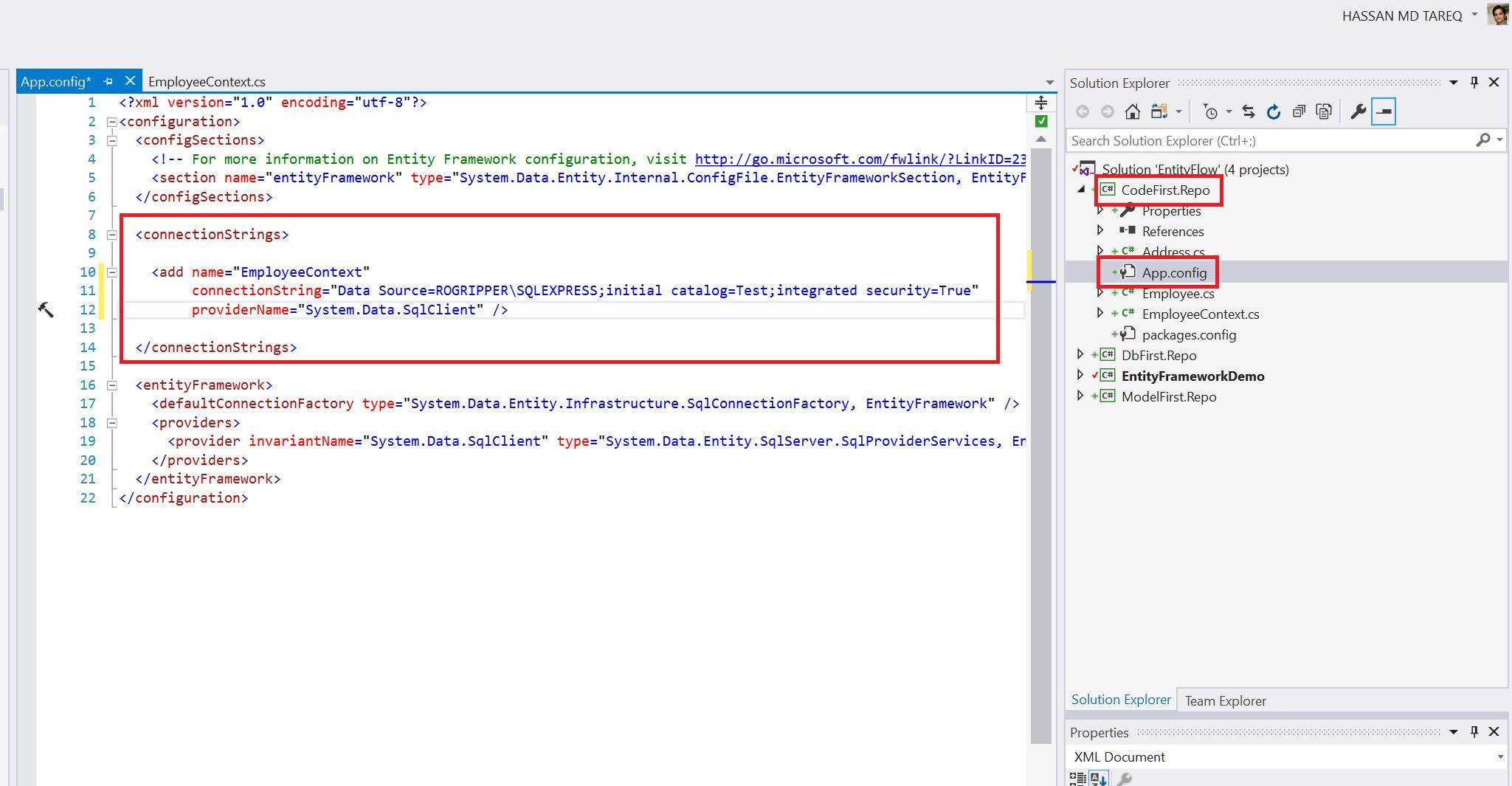 Entity Framework Code Fisrt Approach - Creating edmx from DbContext Step 13